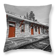 Stockbridge Train Station Throw Pillow