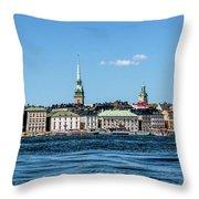 Stockholm From Lake Malaren Throw Pillow