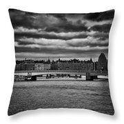 Stockholm In Black And White Throw Pillow