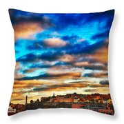 Stockholm In Bold Colors Throw Pillow