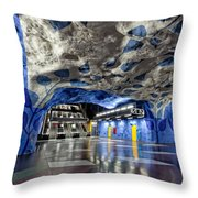 Stockholm Metro Art Collection - 003 Throw Pillow