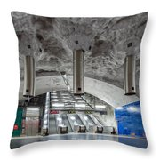 Stockholm Metro Art Collection - 004 Throw Pillow