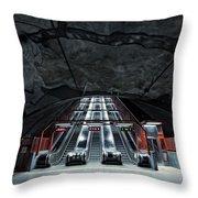 Stockholm Metro Art Collection - 007 Throw Pillow