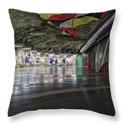 Stockholm Metro Art Collection - 012 Throw Pillow