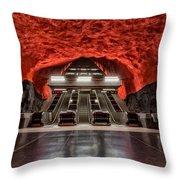 Stockholm Metro Art Collection - 014 Throw Pillow