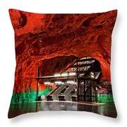 Stockholm Metro Art Collection - 015 Throw Pillow