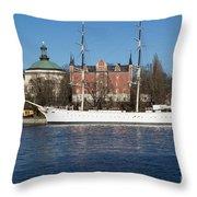 Stockholm Ship Throw Pillow