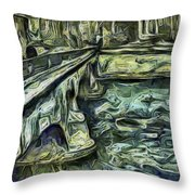 Stockholm Waterfront Throw Pillow
