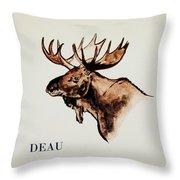 Stockholms' Moose Throw Pillow