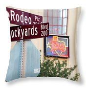 Stockyards Fort Worth 6815 Throw Pillow