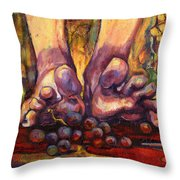 Stomp Throw Pillow by Peggy Wilson
