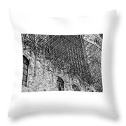 Stone And Lace Throw Pillow