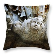 Stone Angels Throw Pillow