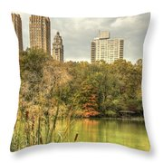 stone bridge in Central Park Throw Pillow