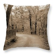 Stone Bridge On Cave Hill Road Throw Pillow