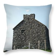Stone Building Maam Ireland Throw Pillow
