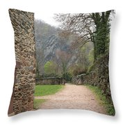Stone Building Wall And Fence Throw Pillow