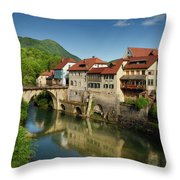Stone Capuchin Bridge With Statue Of St John Of Nepomuk With His Throw Pillow