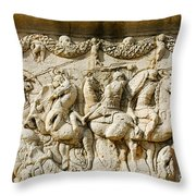 Stone Carving On Mausoleum Of The Julii Throw Pillow