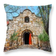 Stone Chapel Throw Pillow