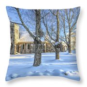 Stone Church At Cragsmoor Throw Pillow