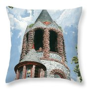 Stone Church Bell Tower Throw Pillow by Dominic White