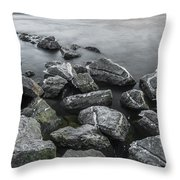 Stone Cold Throw Pillow by Julis Simo