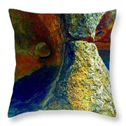 Stone Stare Throw Pillow