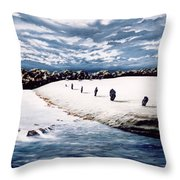 Stone Delusion Throw Pillow