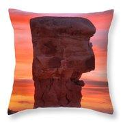 Stone Face Sunset Throw Pillow