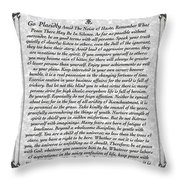 Stone Fancy Desiderata Poem Throw Pillow