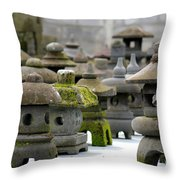 Stone Figures Throw Pillow