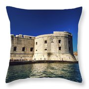 Stone Fortress In Dubrvnik King's Landing Throw Pillow