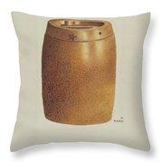 Stone Fruit Jar With Star Throw Pillow