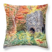 Stone Furnace Throw Pillow