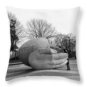 Stone Head Throw Pillow