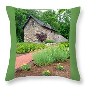Stone House Fishers Indiana Throw Pillow