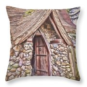 Stone House In Skagit County Throw Pillow