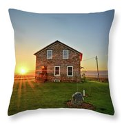 Stone House Sunrise Throw Pillow