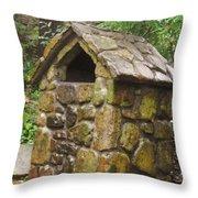 Stone Hut Throw Pillow