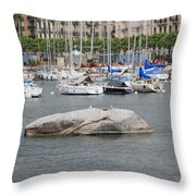 Stone Iron Chain And Seagull Throw Pillow