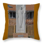Stone Jesus Throw Pillow