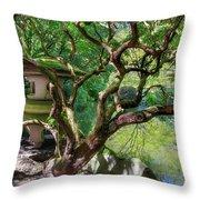 Stone Lantern By Upper Pond Throw Pillow
