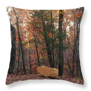 Stone Leaves And Trees Throw Pillow