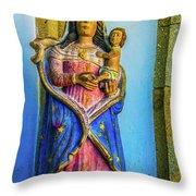 Stone Madonna Throw Pillow