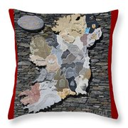 Stone Map Of Ireland Throw Pillow