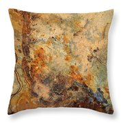 Stone Maps Throw Pillow
