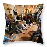 Stone Of Anointing Throw Pillow