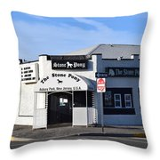 Stone Pony, Asbury Park Throw Pillow