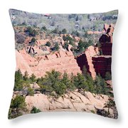 Stone Quarry In Red Rock Canyon Open Space Park Throw Pillow